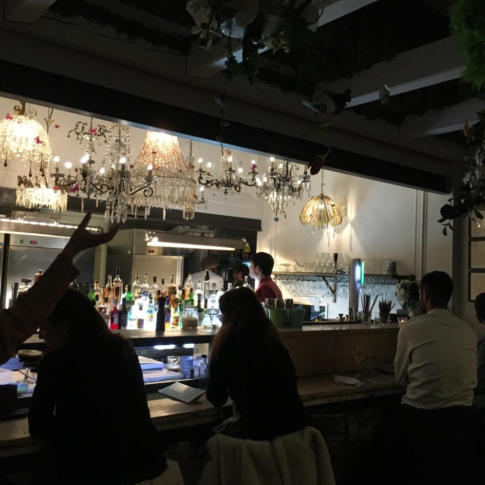 Chandelier Bar and Kitchen