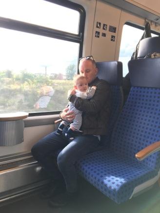 萊比錫的火車上